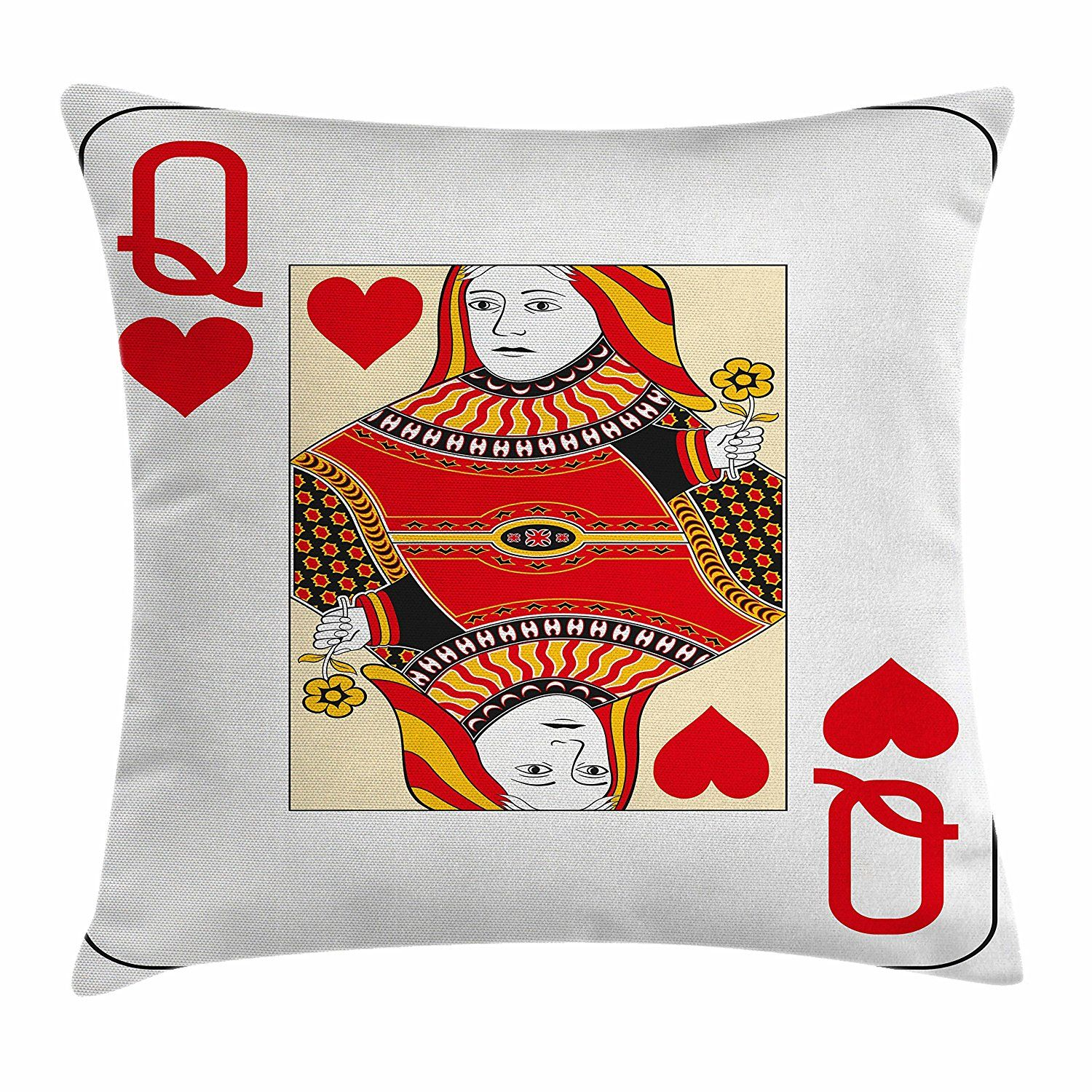 Queen Throw Pillow Cushion Cover by Ambesonne