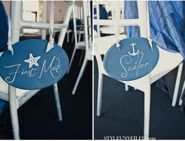 Nautical Wedding Signs Navy And Silver