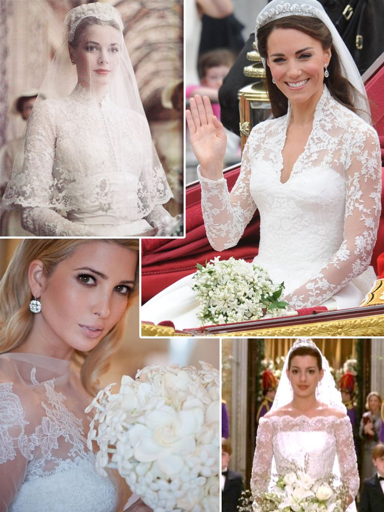 Ivanka Trump Wedding.From Top Grace Kelly Kate Middleton Ivanka Trump And Anne