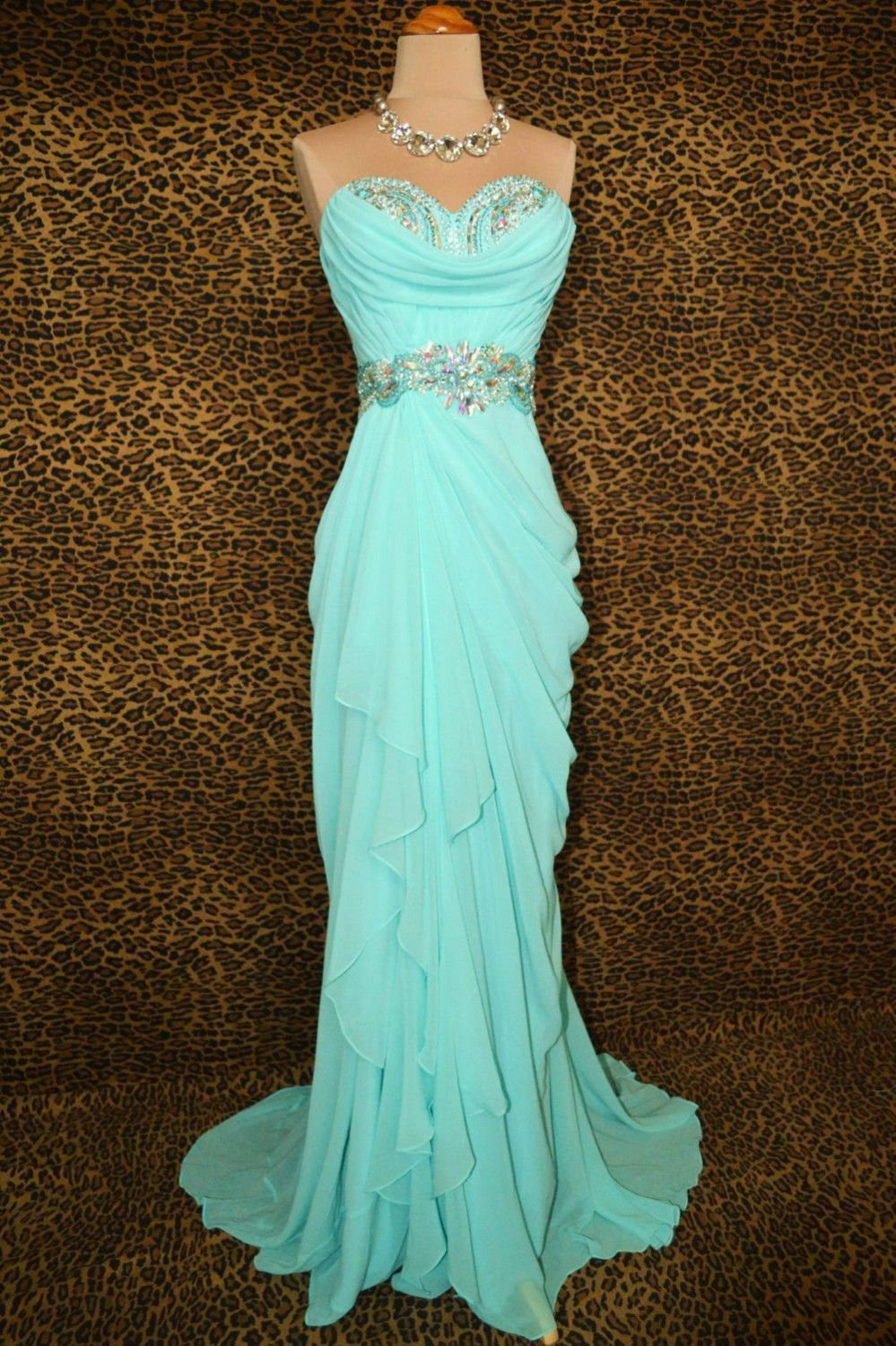 sexy sweetheart blue sequined belt floor length prom dress a line ...
