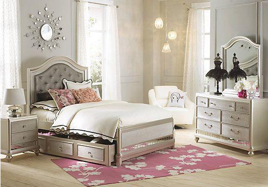 Sofia Vergara Petit Paris Champagne 6 Pc Full Panel Bedroom