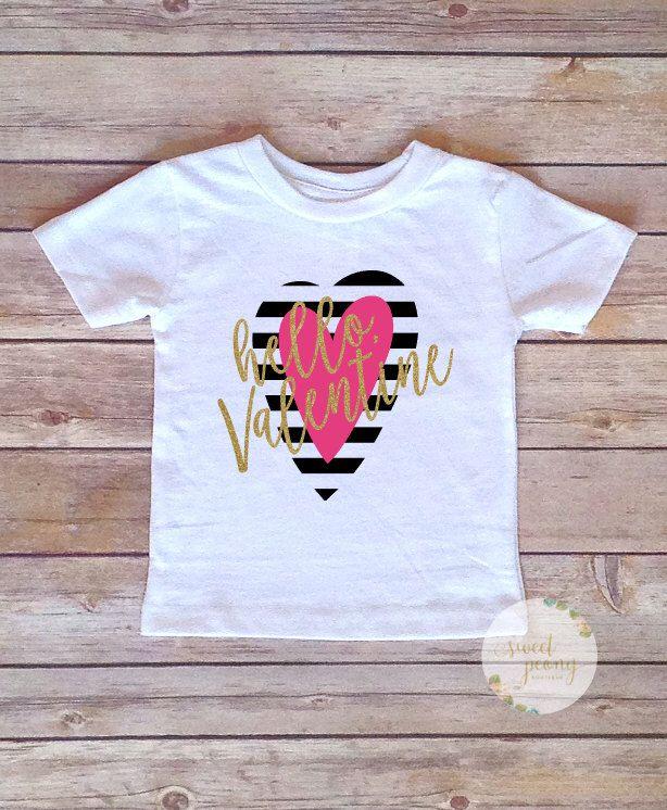 04b8514b Valentines Day Shirts, Valentines Day Shirt for girls, Girls Valentines  Shirts, Hello Valentine