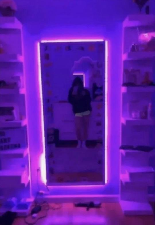 Edge Led Purple Lights Room Inspiration Bedroom Neon Bedroom Room Ideas Bedroom