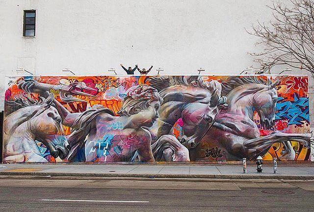 Pichiavo BOWERY WALL Mural Urban Homeric Hymn To Poseidon An - Beautiful giant murals greek gods pichi avo