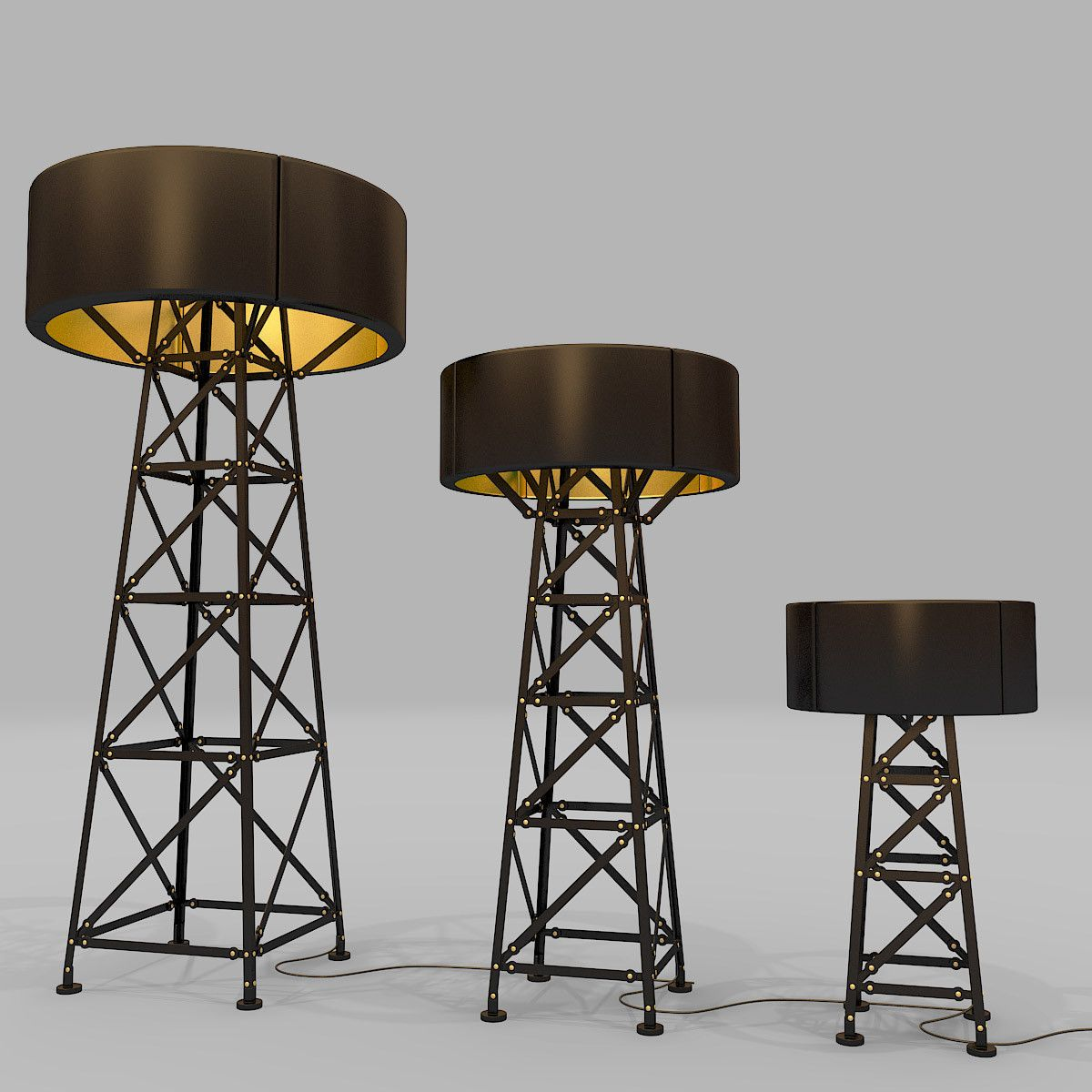 3d Moooi Construction Lamp 3d Model Lamp Floor Lamp Steampunk Lamp