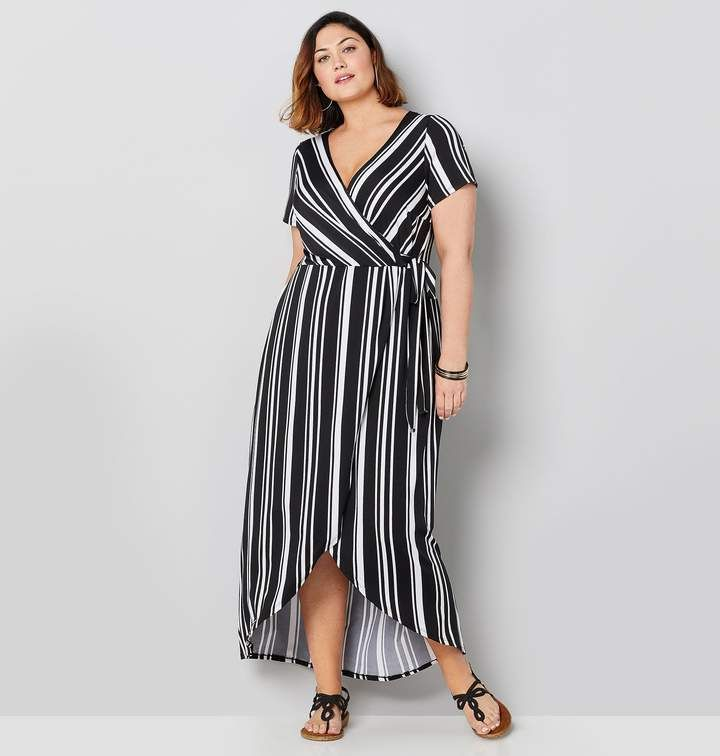 Avenue Plus Size Hi Lo Wrap Maxi Dress | Products in 2019 ...