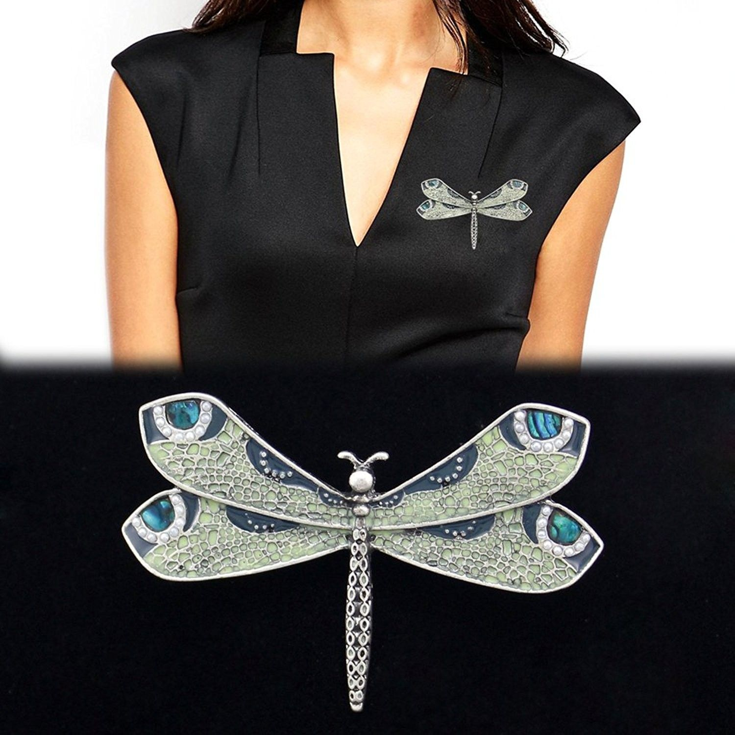 Home, Brooches & Pins, Silver Fashion Victorian Dragonfly