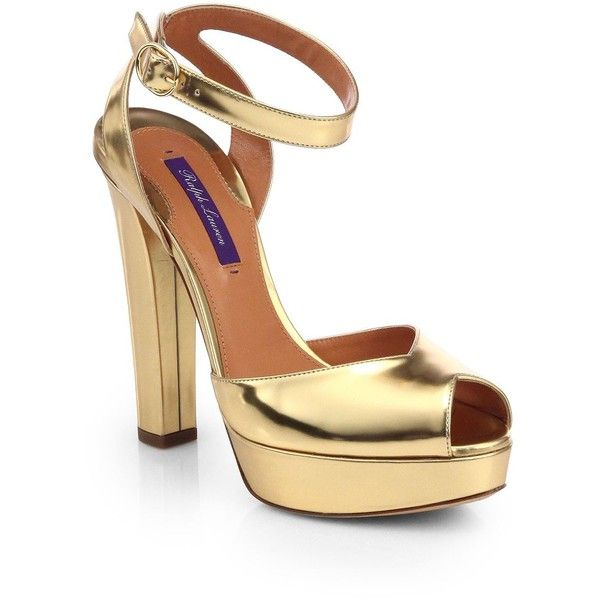 Ralph Lauren Collection Metallic Peep-Toe Pumps sale how much free shipping authentic cheap for sale GlJiRhgJy