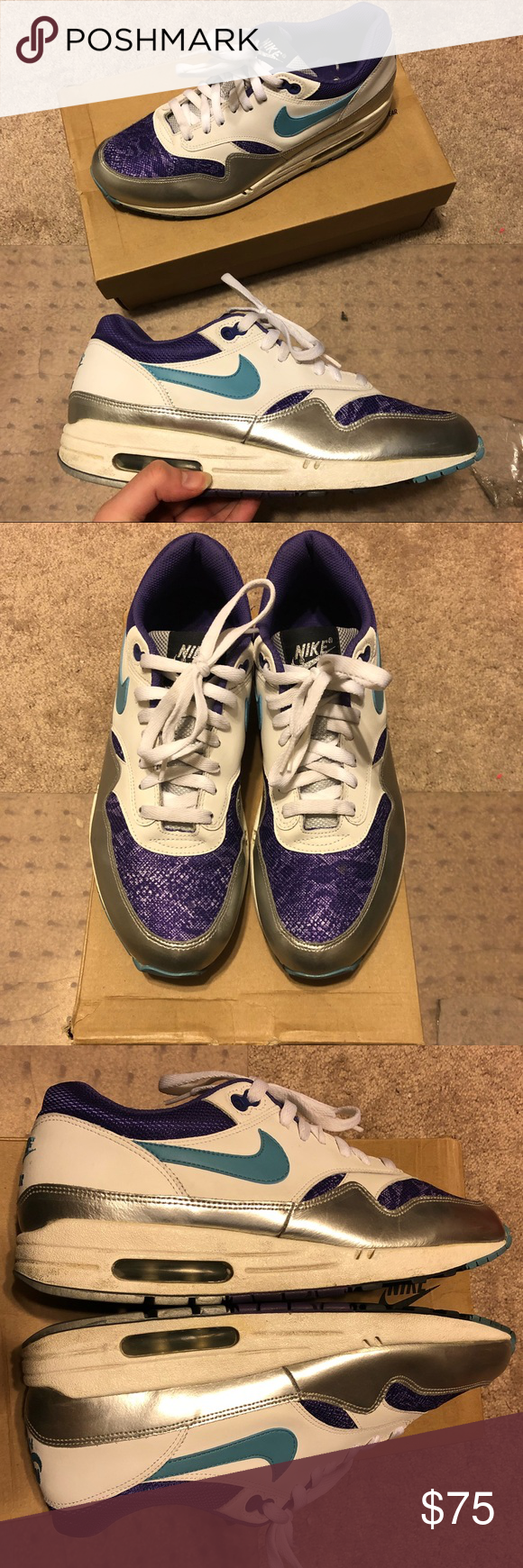 cheap nike air max 1 purple silver 7d070 7a20e