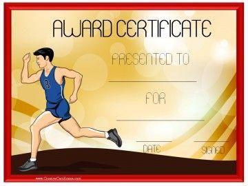 running award certificate running club pinterest certificate