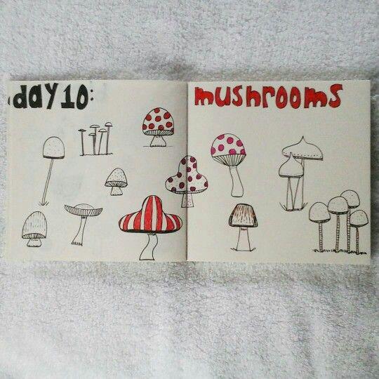 Day 10: mushrooms #sketchbook #sketchbook #lisacongdon