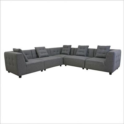 Wholesale Interiors Baxton Studio Symmetrical Sectional U0026 Reviews   Wayfair
