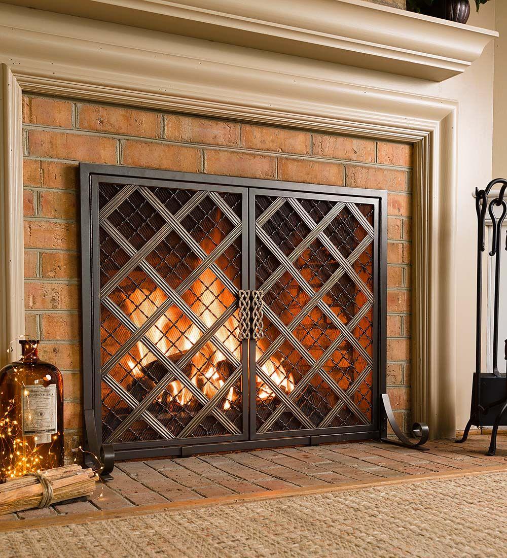 Mccormick Celtic Fireplace Screen Large Decorative Fireplace