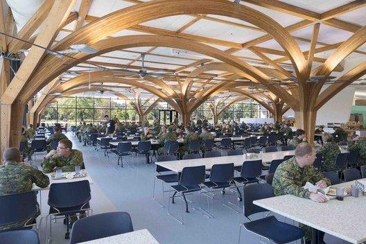 cfb borden all ranks kitchen and dining facilities    fabriq architecture   zas architects  avec