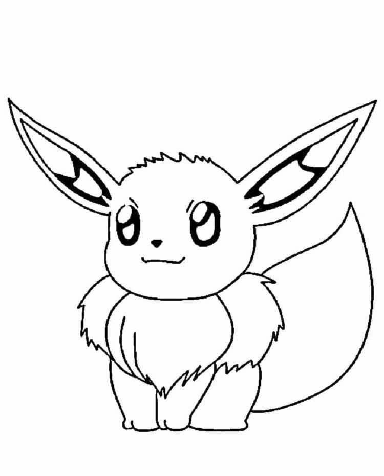 Pokemon Eve Coloring Pages For Kids In 2020 Pokemon Coloring Pages Pikachu Coloring Page Bird Coloring Pages