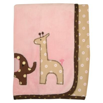 Lambs and Ivy Emma Minky Blanket - Pink/Brown *$15.19* | Baby Shower ...