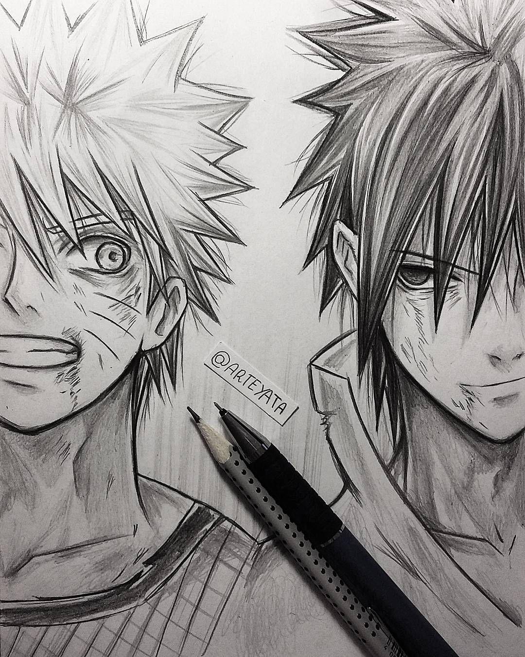Naruto Drawings: Naruto Uzumaki & Sasuke Uchiha