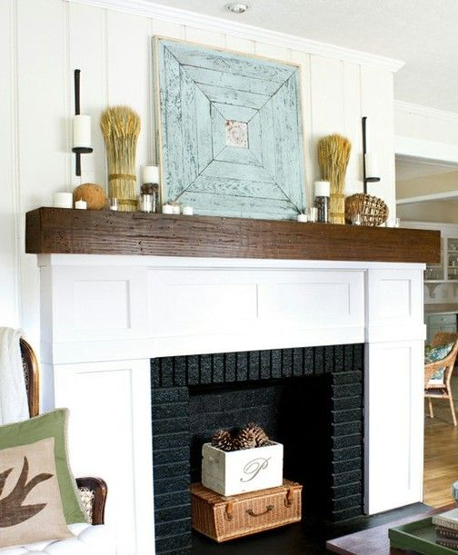 Reclaimed wood mantel and Mantels