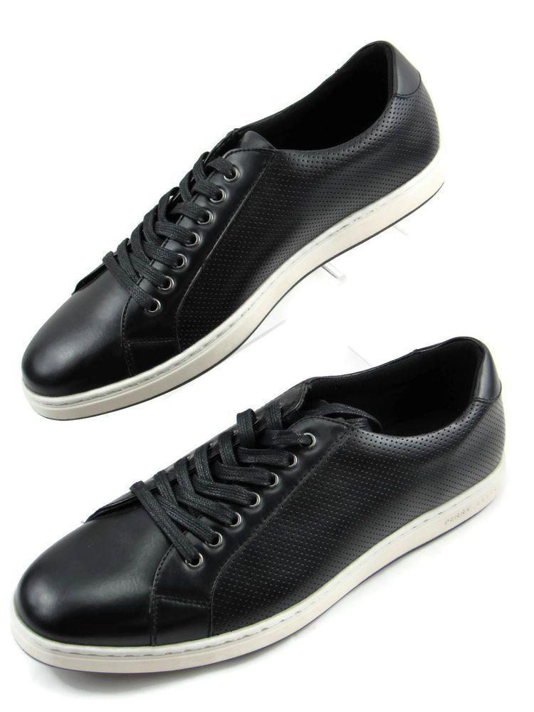 d02efeda8cbb Perry Ellis Portfolio Mens Perf Casual Sneakers Shoes Black Size 12 New   PerryEllis  FashionSneakers