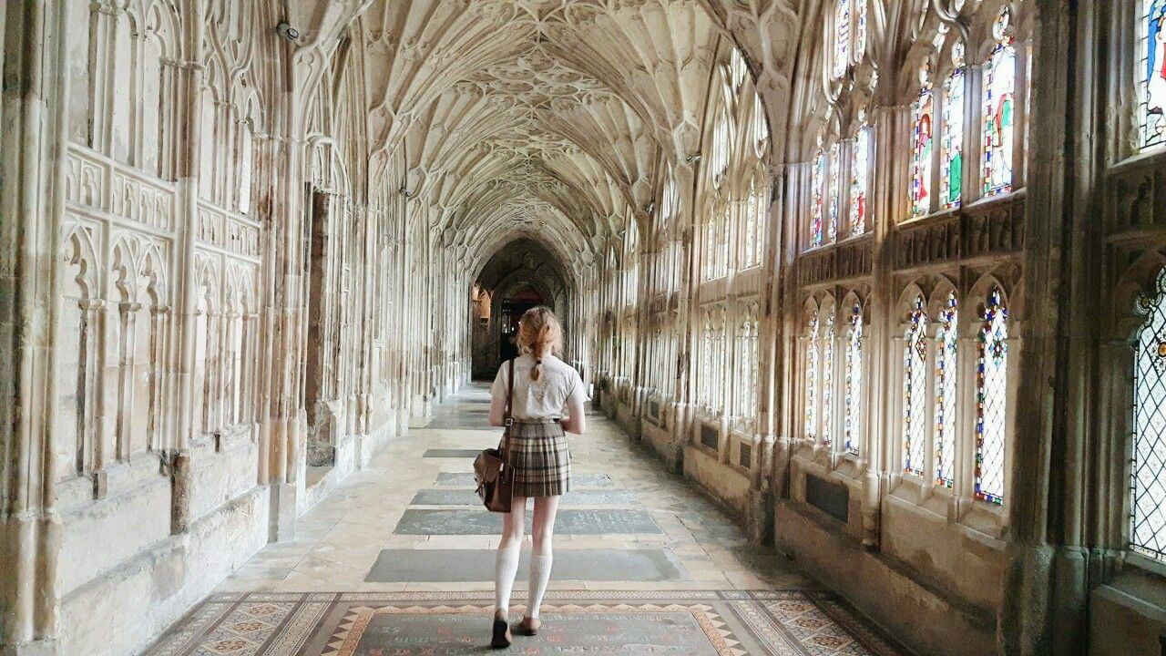 """sobforsirius: """" moodypae: """" sobforsirius: """" walking through gloucester cathedral // ig: kristinelizabeths """" ahh this makes me rlly excited idek, looks like Hogwarts. """" thank you! that's because part of philosopher's stone and chamber of secrets was..."""