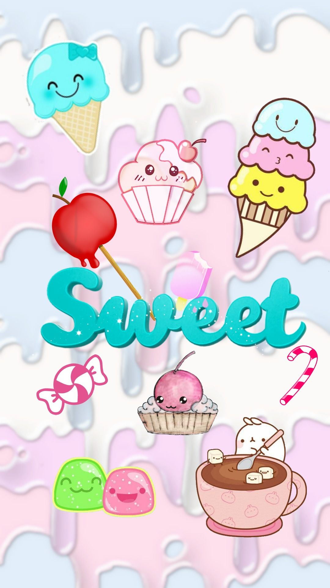 sweet cute wallpaper for phone kawaii iphone Fondo de