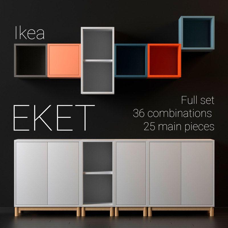 Ikea Eket 3d Model Ikea Innenraum Ikea Diy Wandregale