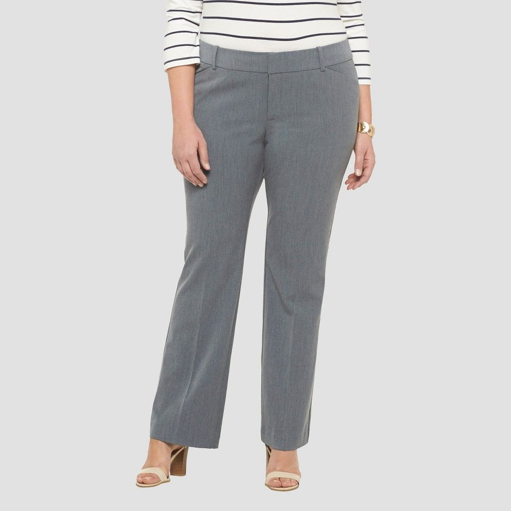 6a0a556150f9c Women's Plus Size Bootcut Twill Pant - Gray | Fashion Bug Pants and ...