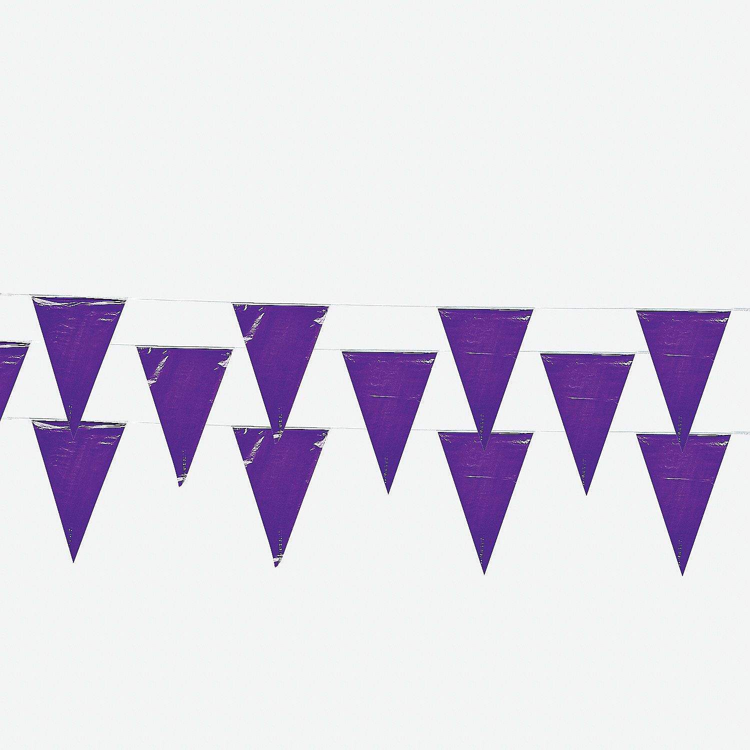 Purple plastic pennant banner pennant banners banners and