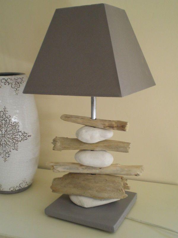 lampe galets et bois flott projets essayer lampe. Black Bedroom Furniture Sets. Home Design Ideas