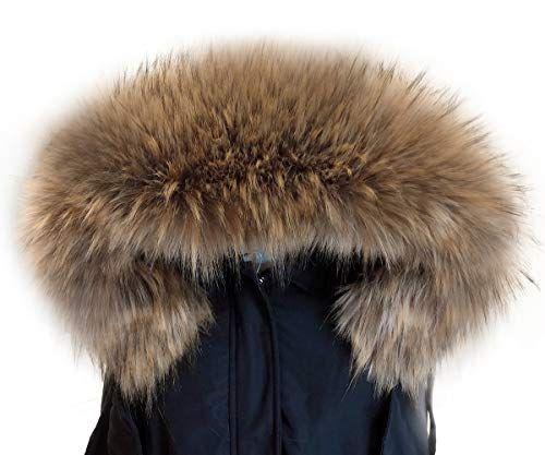 6102af676 MAGIMODAC Elegante Cuello Bufanda Bufandas de Piel de Zorro Sintética para  Chaqueta Abrigo Capucha Mujer (
