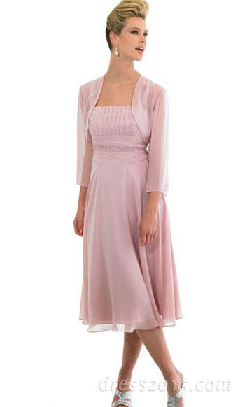 mother of the bride dress ... Not strapless ... But the soft chiffon is nice