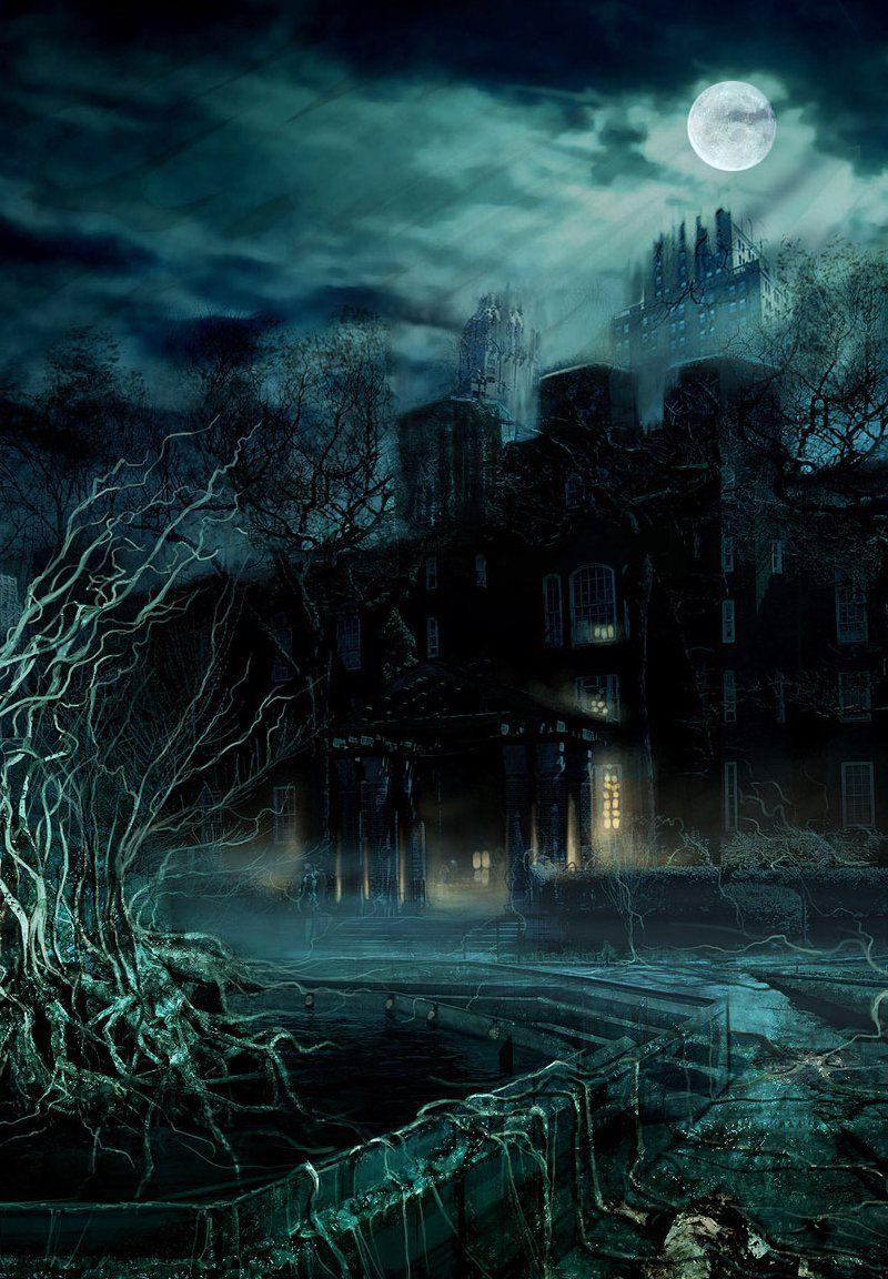 tormented night Gothic wallpaper, Dark wallpaper