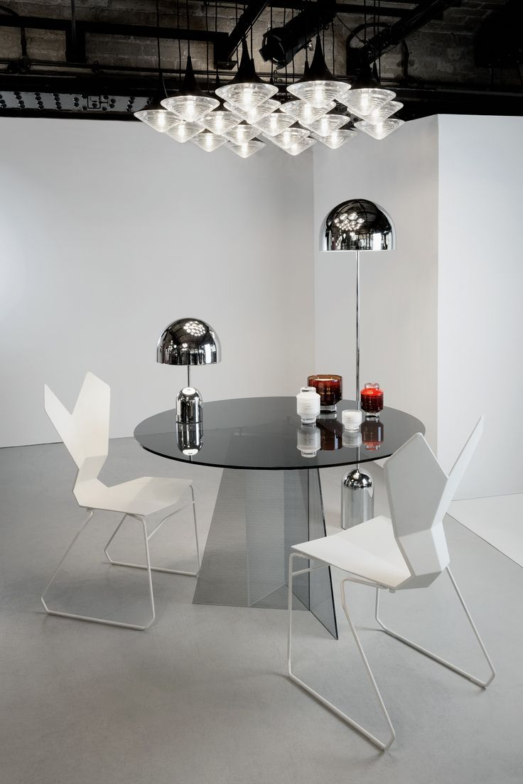 The Lab Monochroma Fine Dining Room Modern Dining Room Floor Lamp Table