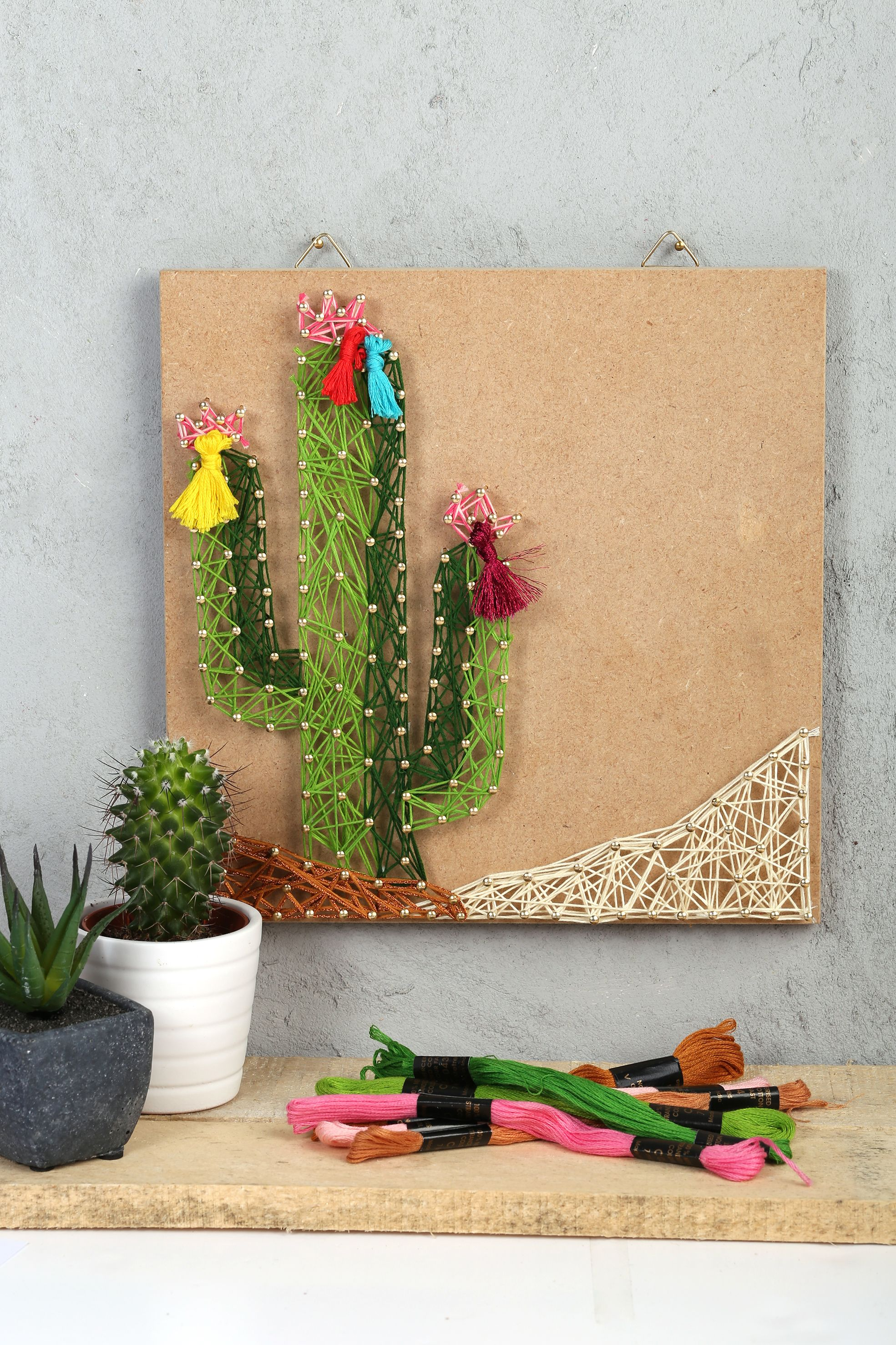 Agreable STRING ART CACTUS DIY Tropical Summer Home Déco Tendance Lama