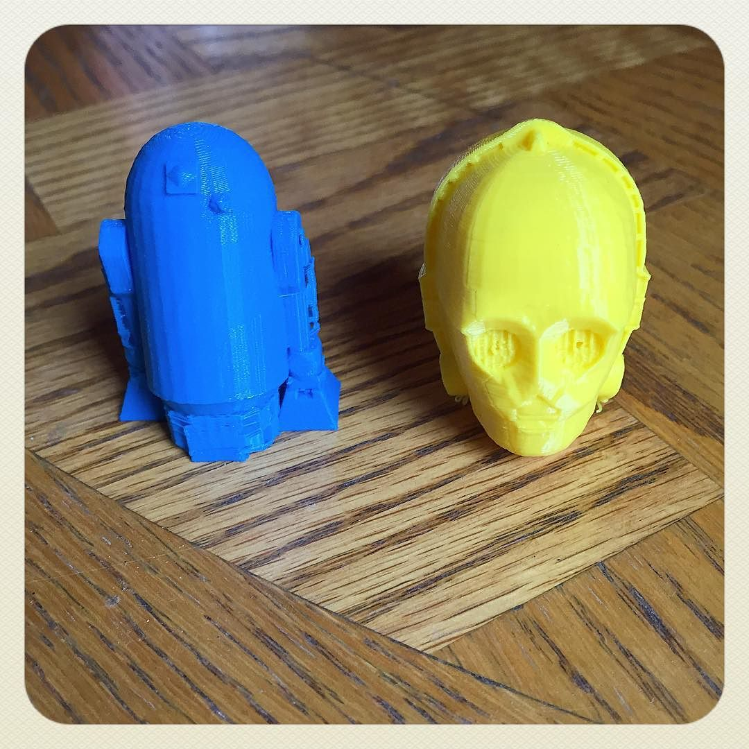 Did some 3D printing today! #3dprinting #starwars #c3po #r2d2  by brender31