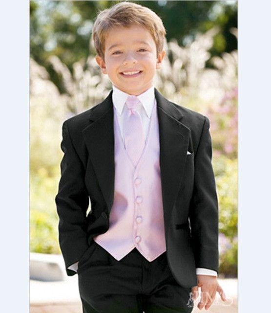3 Pieces Boy Tuxedos 2017 Children Suit Kid Wedding Tuxedo (Jacket ...