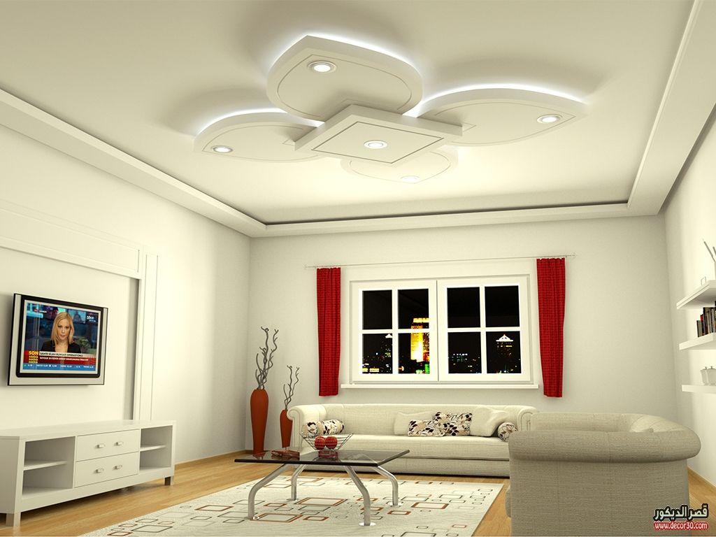 اشكال اسقف جبس بورد غرف وصالات وريسبشن متنوعة قصر الديكور Ceiling Design Living Room False Ceiling Design Home Decor