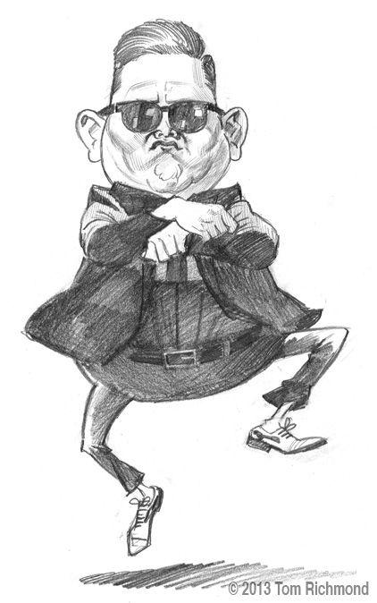 Psy 2013 tom richmond caricatures en 2018 - Dessin de psy ...