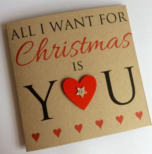 Personalised Handmade All I Want For Christmas Kraft Card