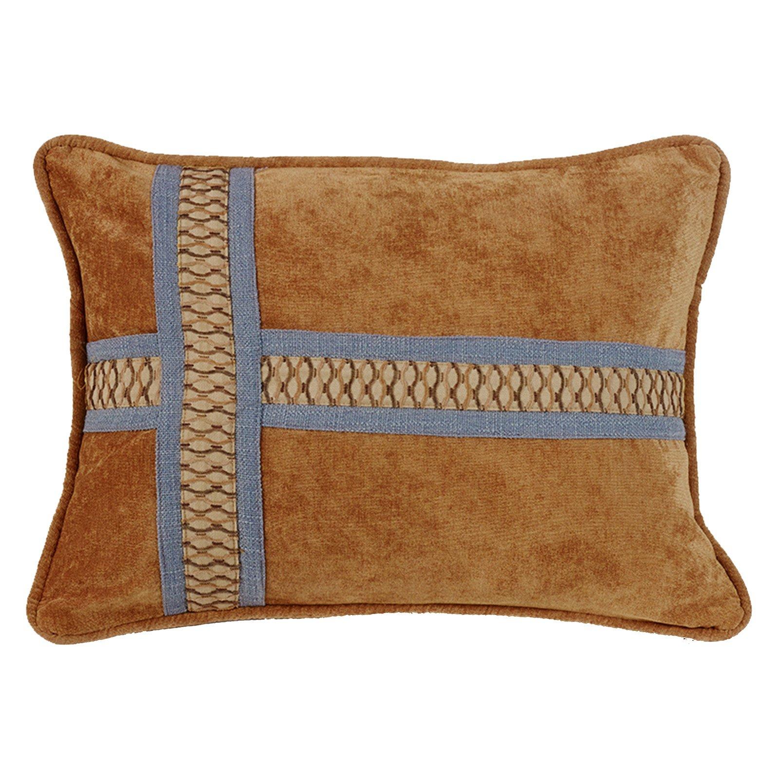 HiEnd Accents Brown Cross Design Pillow
