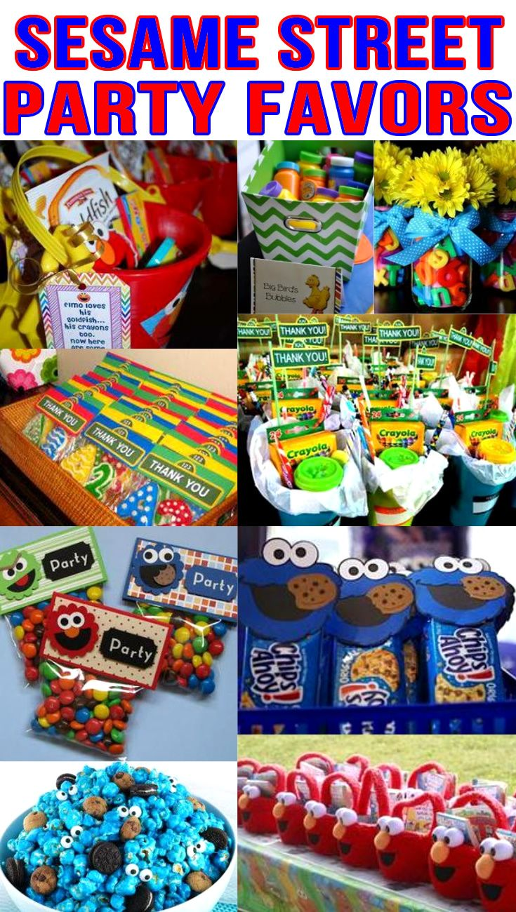 Sesame Street Party Favors Birthday Bags Goodie Bag More Ideas Get The Best