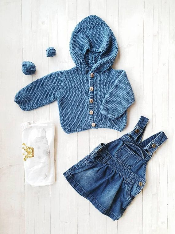 df02b6a63554b2 Knit baby sweater-Merino wool baby clothes-Baby clothes unisex-No ...