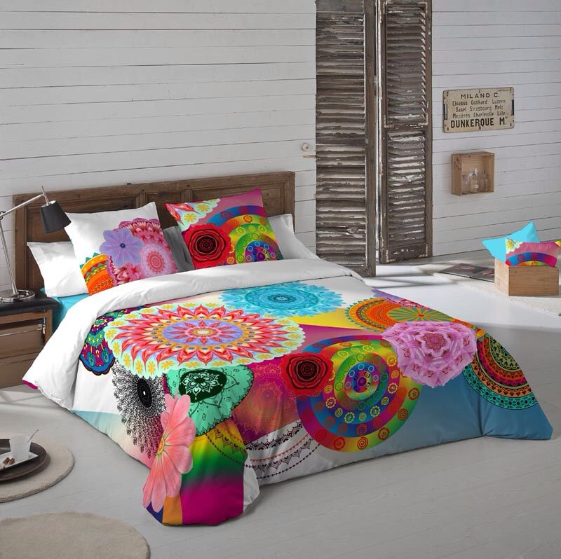 69a664cea Funda nórdica mandala Indhira disponible para camas de 90, 105, 135 ...