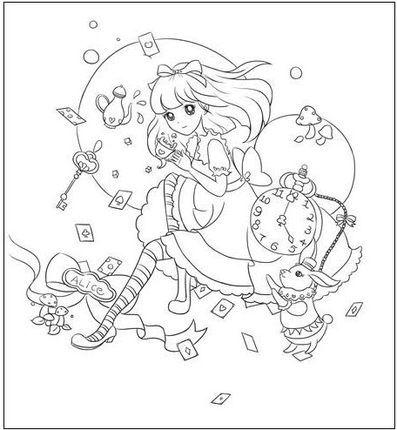 Reine füllen blume mädchen gemalt Färbung Bücher Für Erwachsene ...