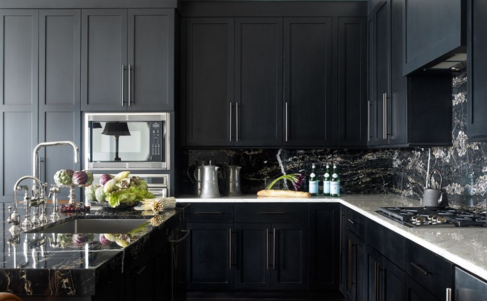Best 10 Dark And Elegant Interiors Black Kitchen Cabinets 400 x 300