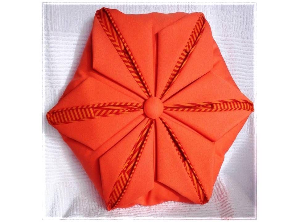 Bolsa Em Origami De Tecido : Almofada dobradura orinuno com ziper o tecidos de fora