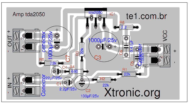 Tda2050 Bridge Amplifier Circuit Google Search Circuit Circuit Diagram Amplifier