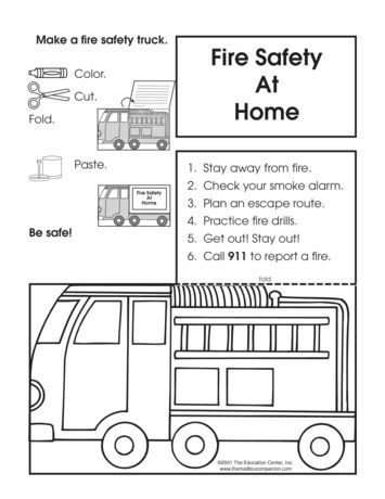 Fire Safety At Home Lesson Plans