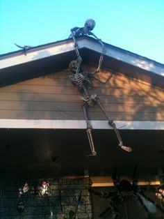 outdoor halloween decoration for barn - Skeletons For Halloween Decorations