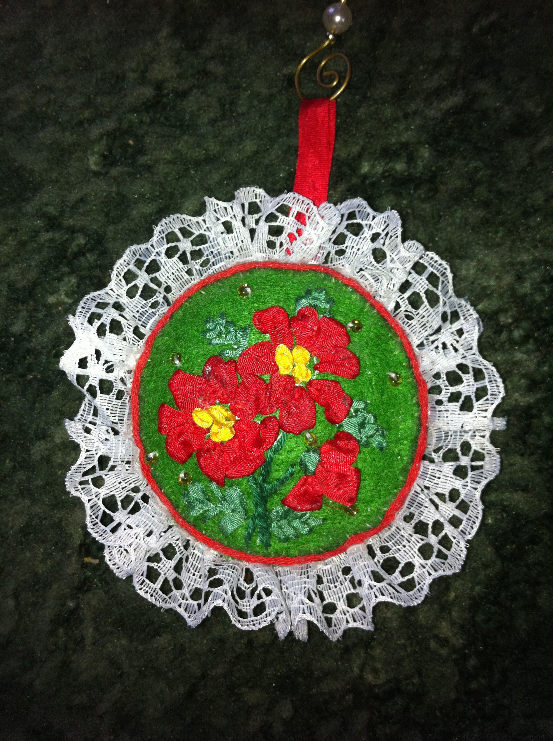 Christmas ornament made from Bucilla kit (With images
